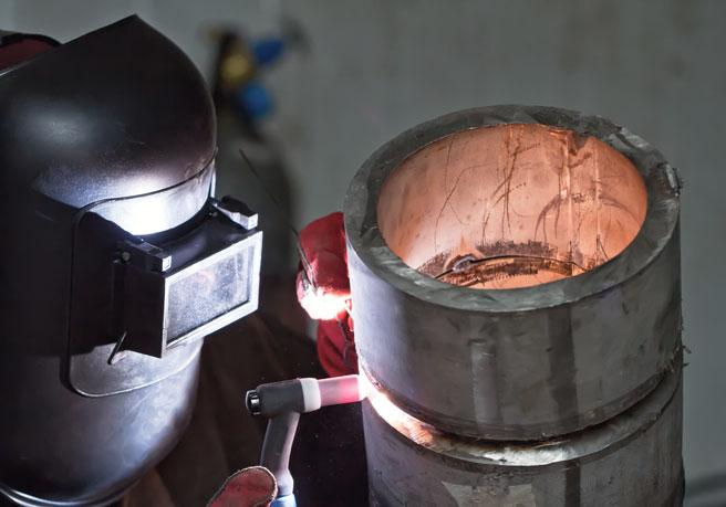 Rostfreies Stahlrohr Schweißen